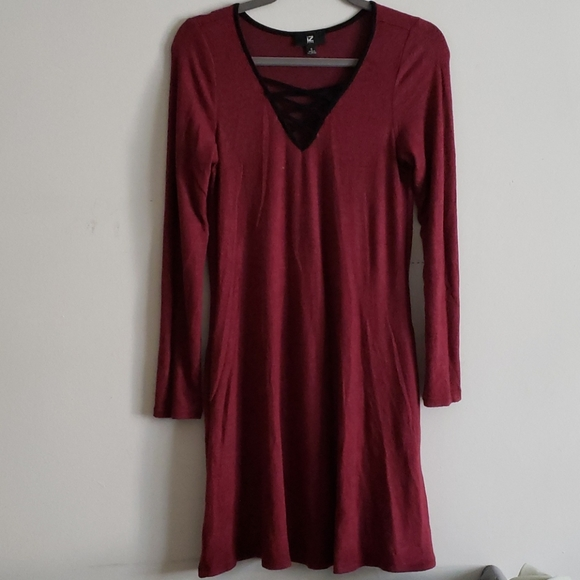 Iz Byer burgundy Dress
